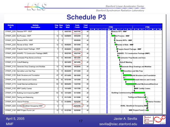 Schedule P3