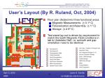 user s layout by r ruland oct 2004