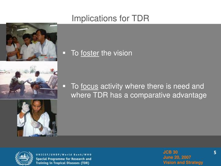 Implications for TDR