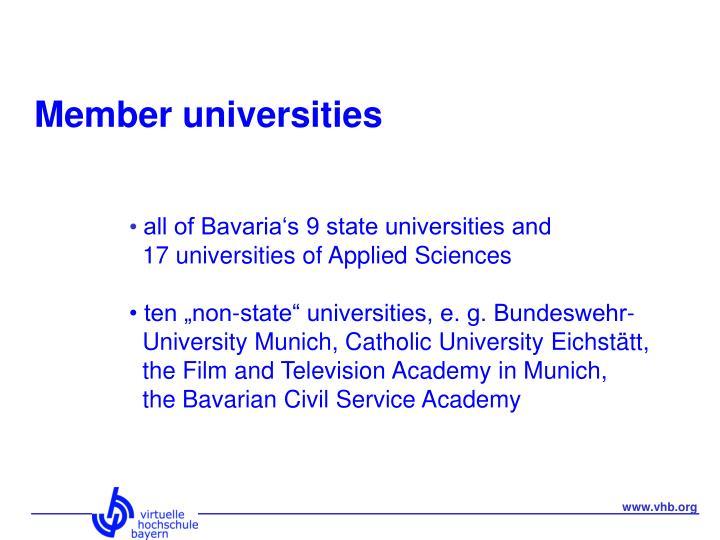 Member universities