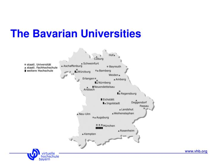 The Bavarian Universities