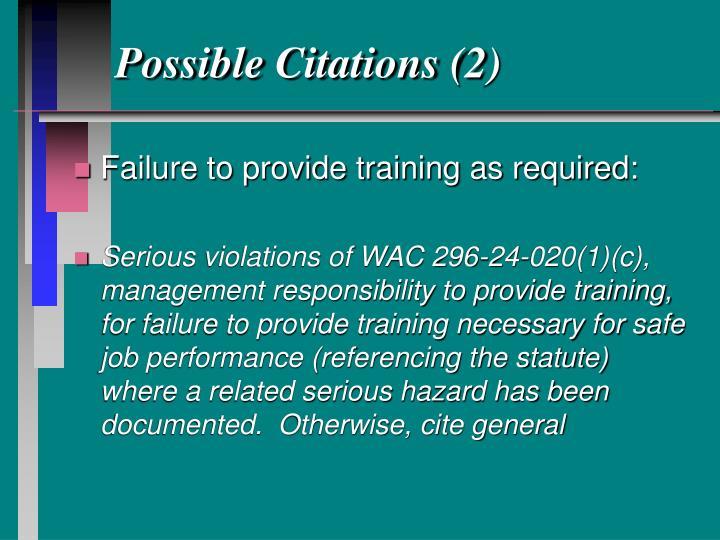 Possible Citations (2)