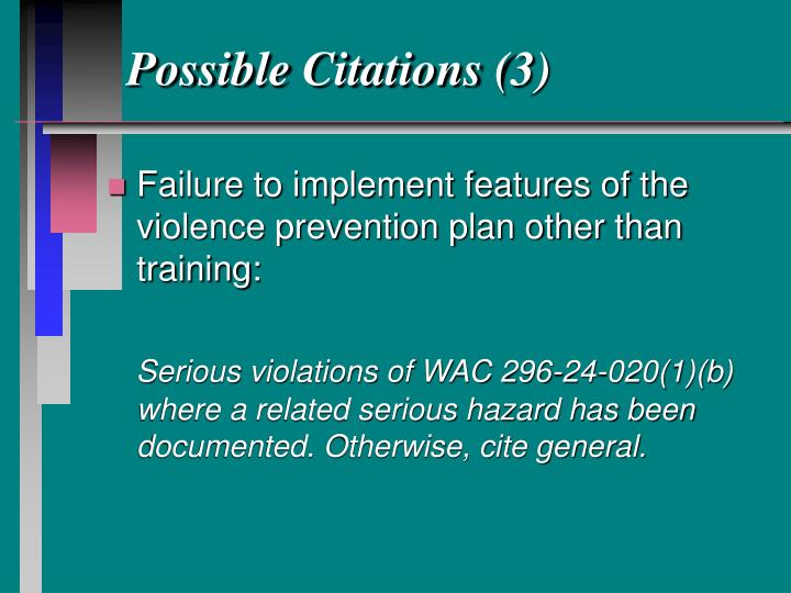 Possible Citations (3)