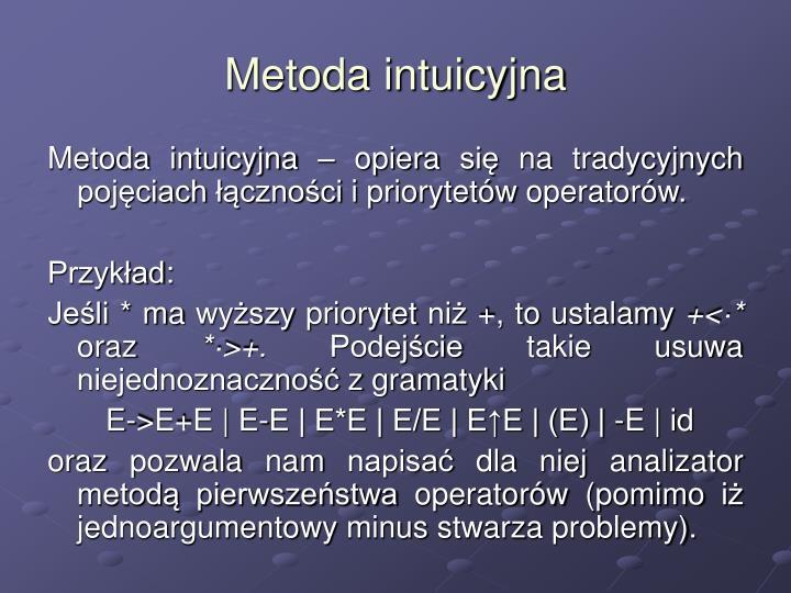 Metoda intuicyjna