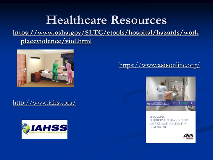 Healthcare Resources