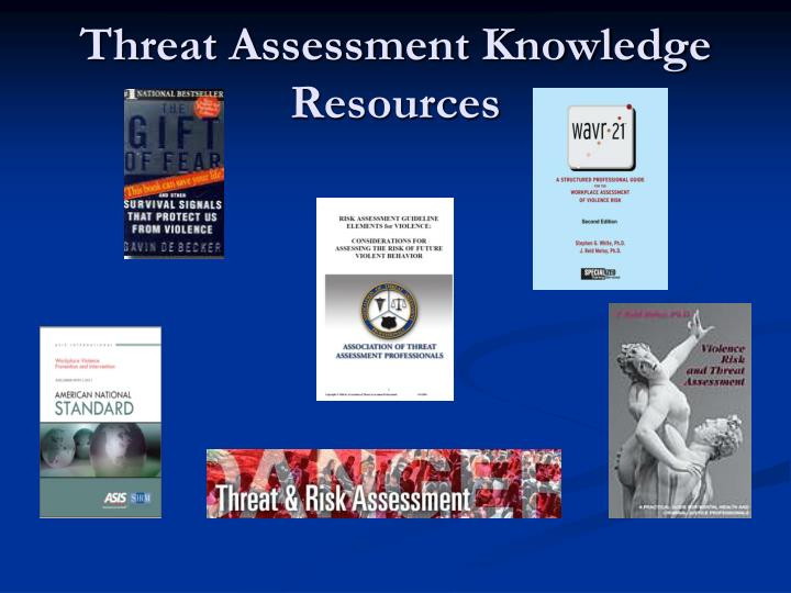Threat Assessment Knowledge Resources