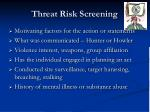 threat risk screening1