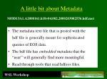 a little bit about metadata