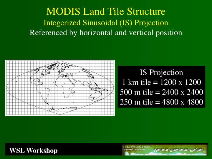 MODIS Land Tile Structure