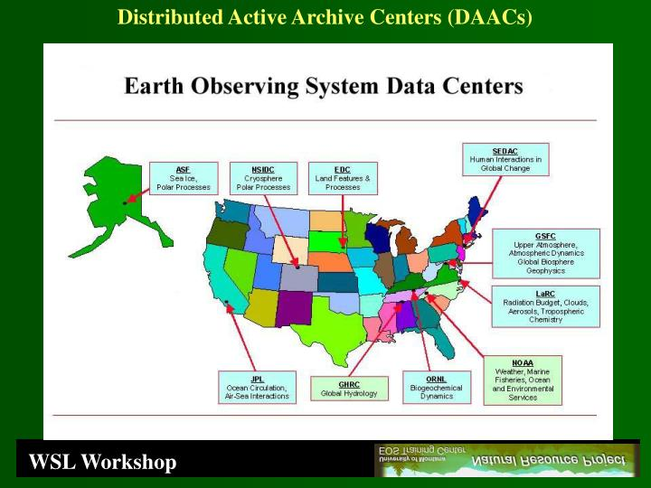Distributed Active Archive Centers (DAACs)