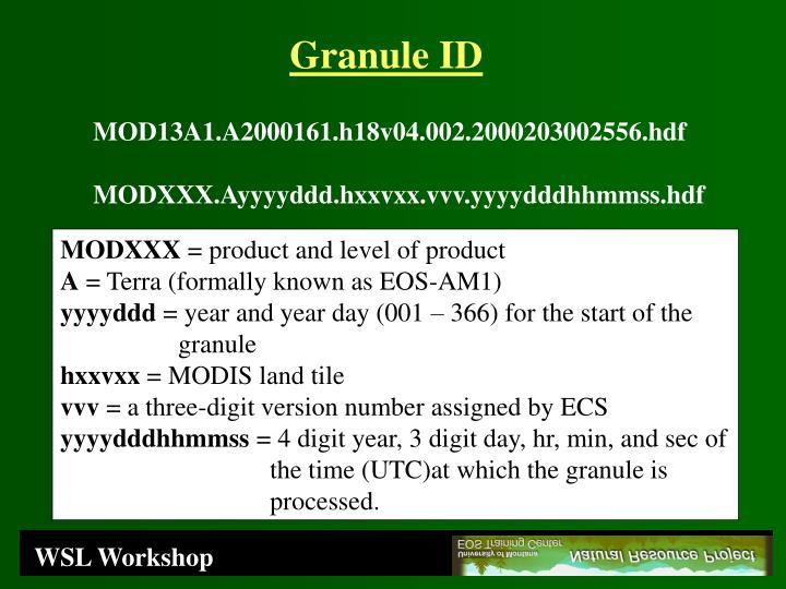 Granule ID