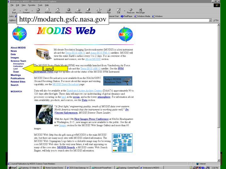 http://modarch.gsfc.nasa.gov