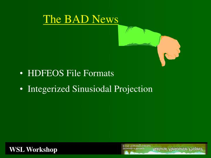 HDFEOS File Formats