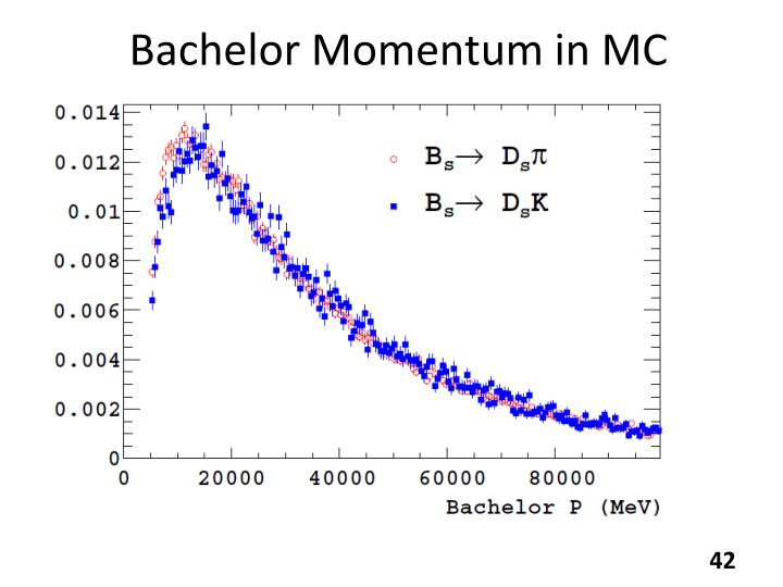 Bachelor Momentum in MC