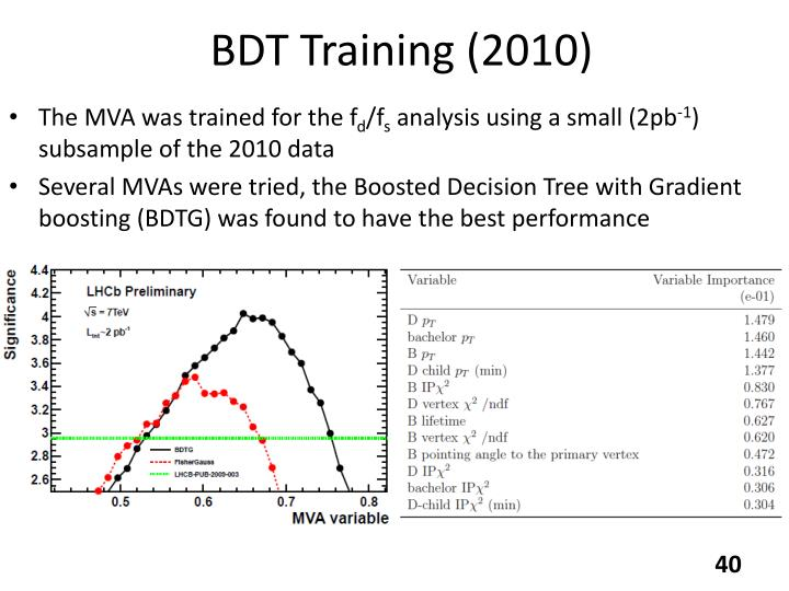 BDT Training (2010)