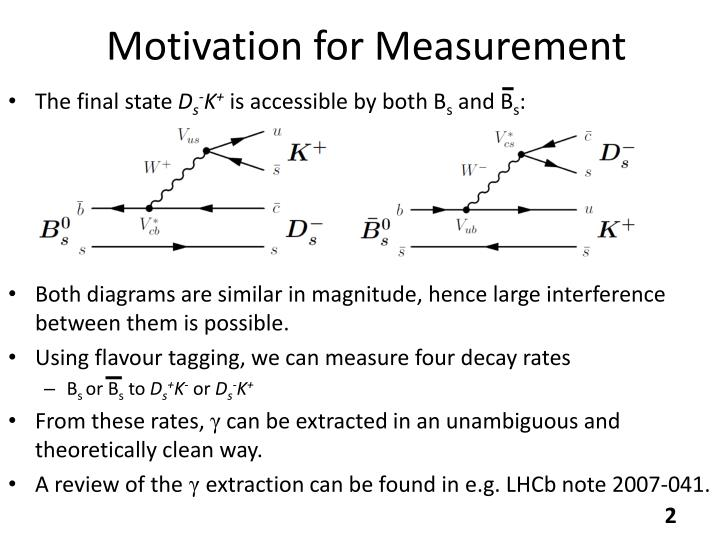 Motivation for measurement