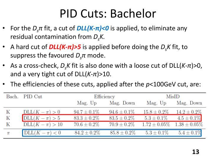 PID Cuts: Bachelor
