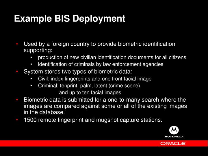 Example BIS Deployment