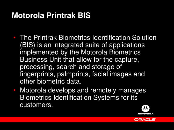 Motorola Printrak BIS