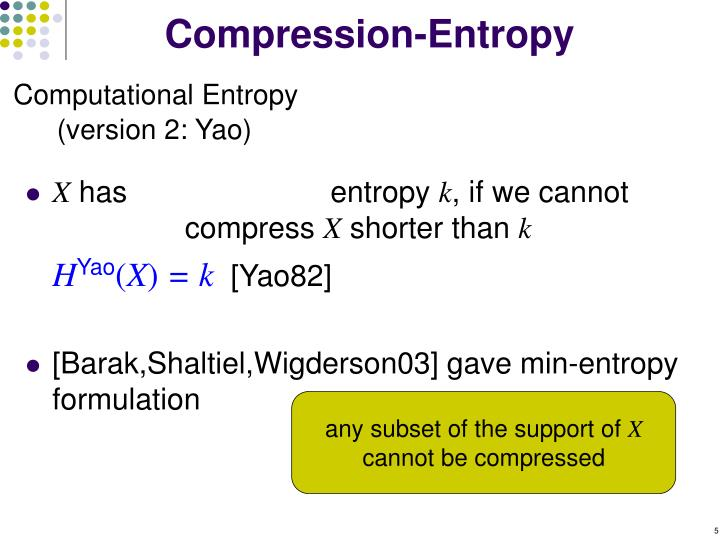 Compression-Entropy