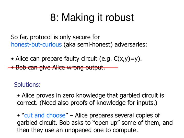 8: Making it robust