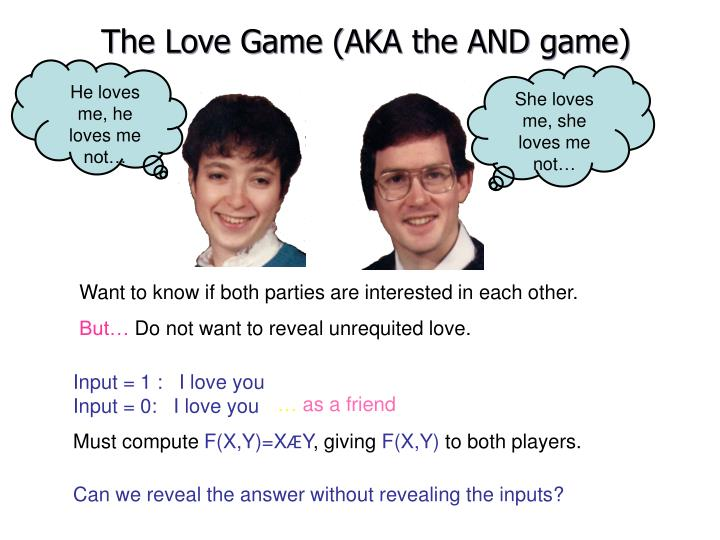 The Love Game (AKA the AND game)