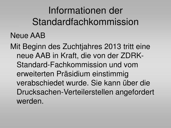 Informationen der Standardfachkommission