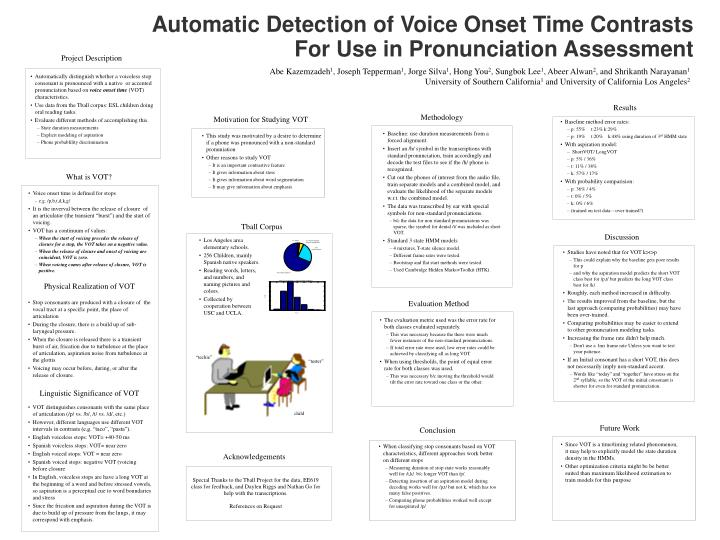 Automatic Detection of Voice Onset Time Contrasts