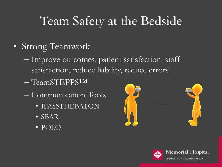 Team Safety at the Bedside