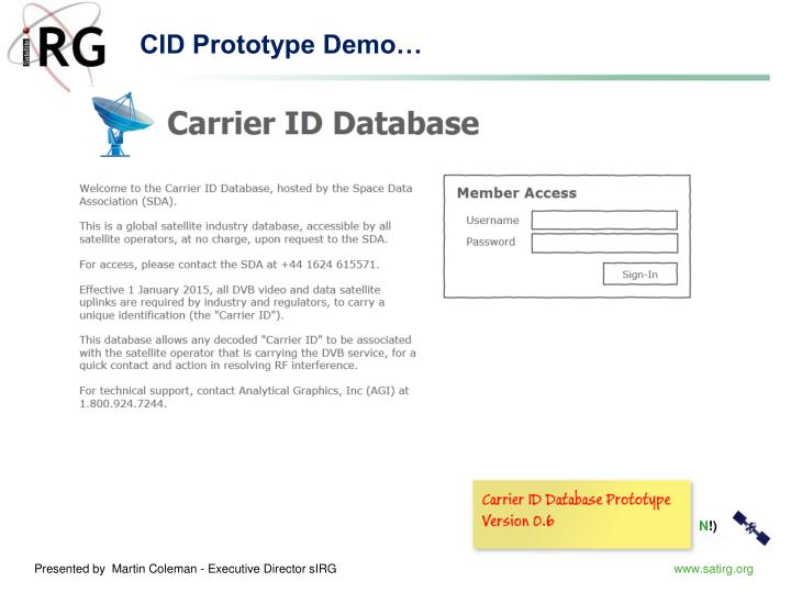 CID Prototype Demo…