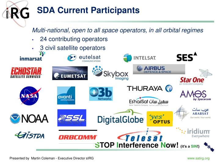 SDA Current Participants