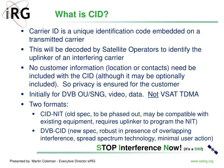 What is CID?