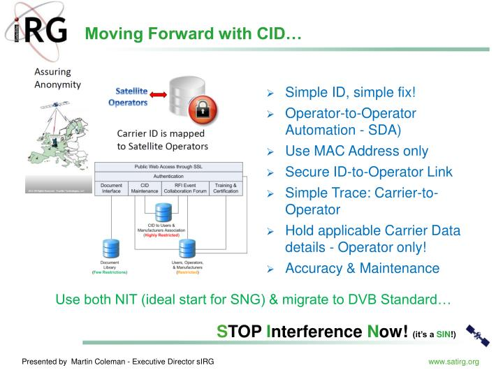 Moving Forward with CID…