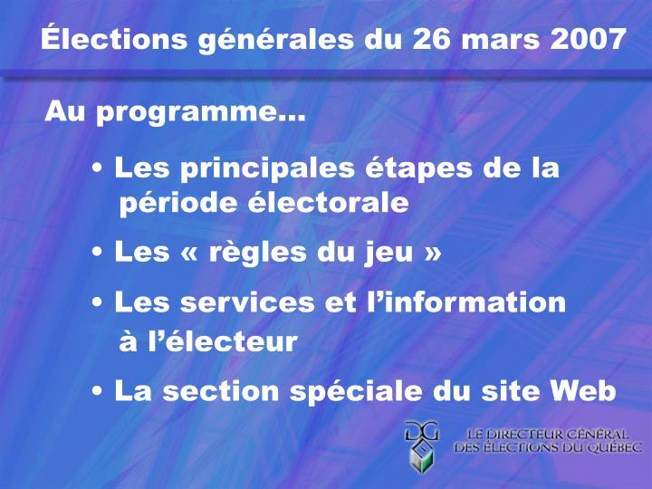 Élections générales du 26 mars 2007
