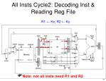 all insts cycle2 decoding inst reading reg file