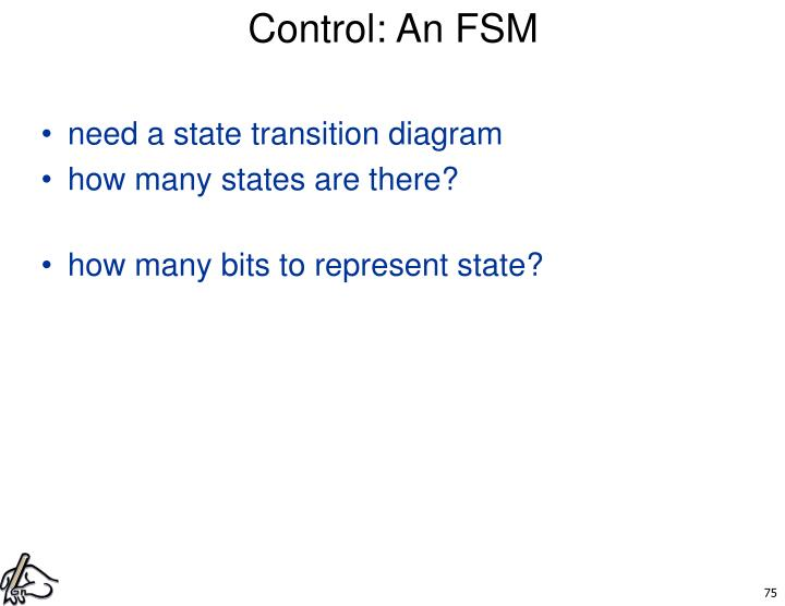 Control: An FSM