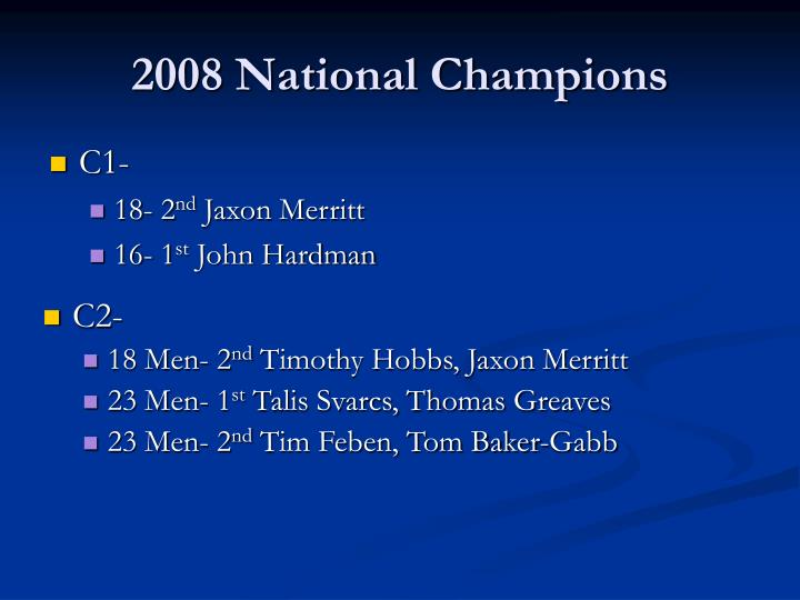 2008 National Champions