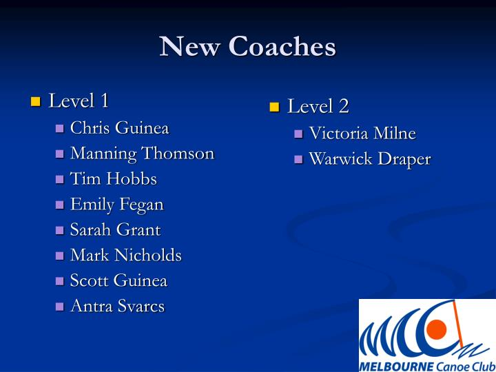 New Coaches