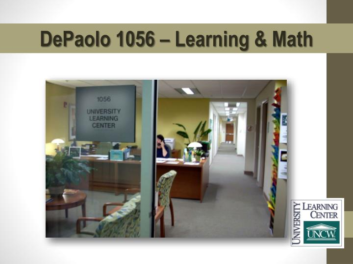 DePaolo 1056 – Learning & Math