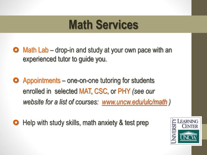 Math Services