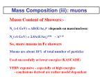 mass composition iii muons