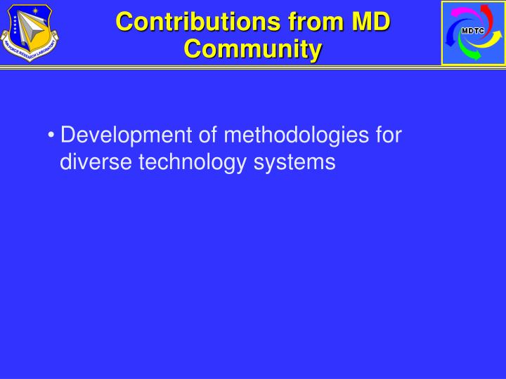 Contributions from MD Community