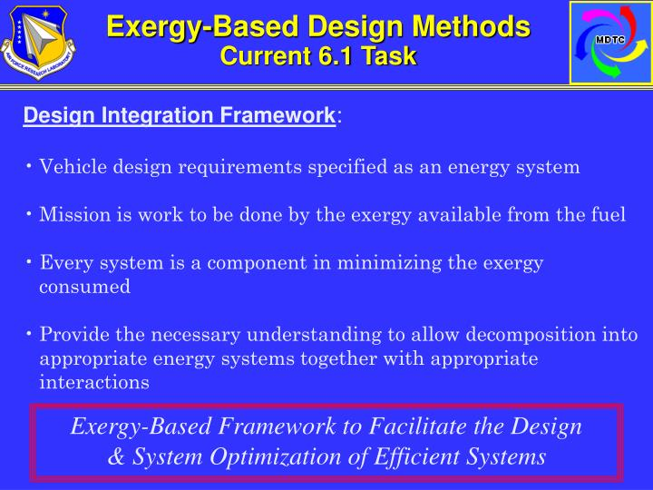 Exergy-Based Design Methods