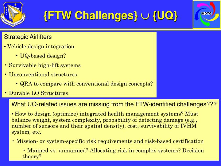 {FTW Challenges}
