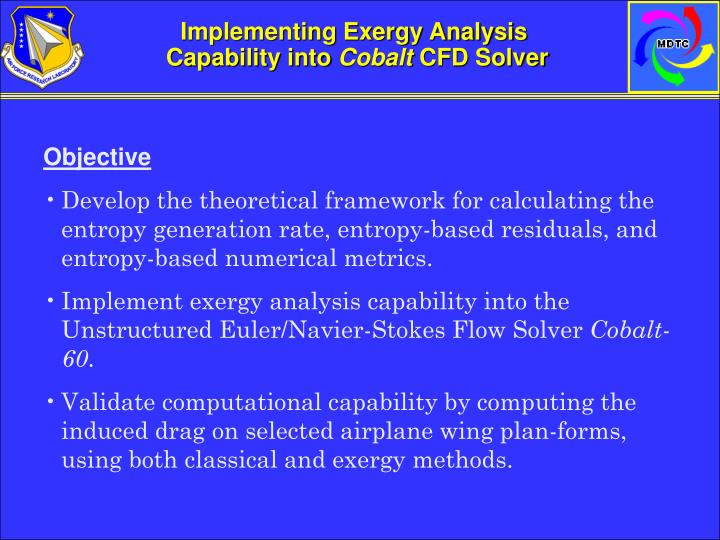 Implementing Exergy Analysis