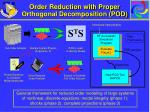 order reduction with proper orthogonal decomposition pod