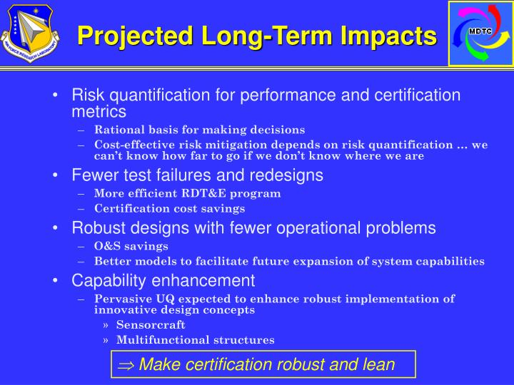 Projected Long-Term Impacts