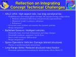 reflection on integrating concept technical challenges