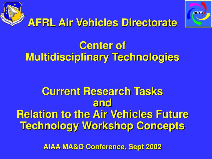 AFRL Air Vehicles Directorate