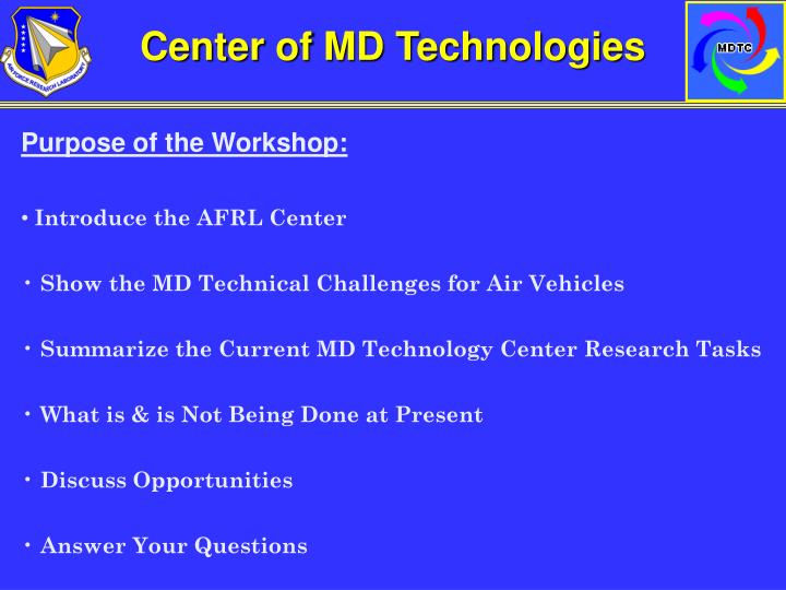 Center of MD Technologies